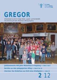 440 jahre - St. Gregor  Jugendhilfe