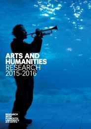ARTS AND HUMANITIES RESEARCH 2015-2016