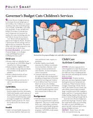 Governor's Budget Cuts Children's Services - Action Alliance for ...