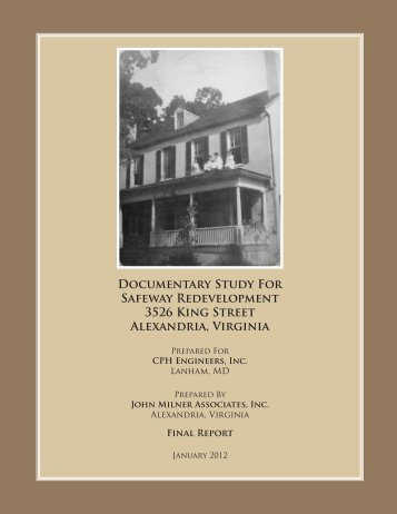 Documentary Study for Safeway Redevelopment ... - City of Alexandria