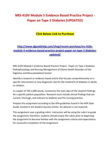 evidence based practice nursing research paper