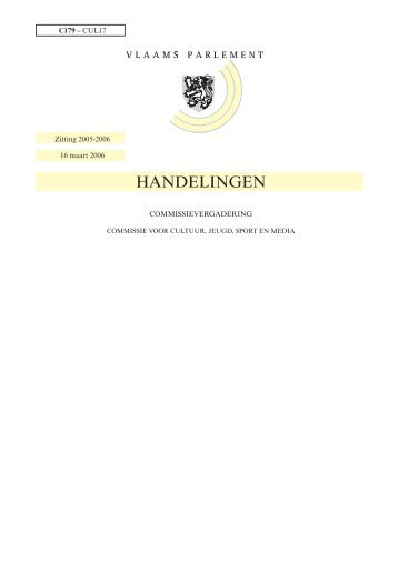 Handelingen commissies - Vlaams Parlement