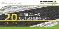 Gutscheinheft 20 Jahre Schwarzmayr