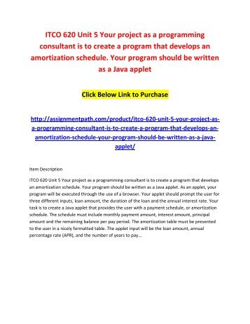 itco 620 unit 5 your project as a programming consultant is to