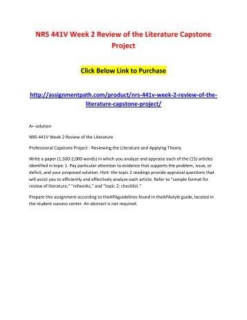 gcu capstone project examples