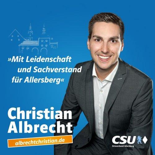 Christian Albrecht - Mit Leidenschaft und Sachverstand für Allersberg