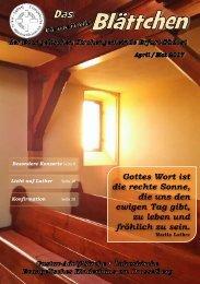 Gemeinde- Blättchen April Mai 2017