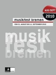 Download Magazin als PDF - Musikfest Bremen