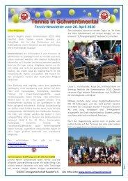 Tennis-Newsletter vom 26. April 2010 - Tennis in Schwentinental