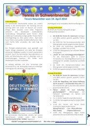 Tennis-Newsletter vom 19. April 2010 - Tennis in Schwentinental