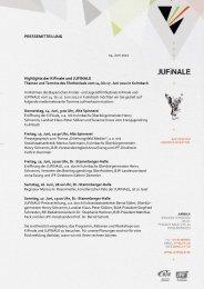 PRESSEMITTEILUNG Highlights der KiFinale und JUFINALE