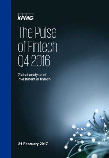 Global analysis of investment in fintech 21 February 2017