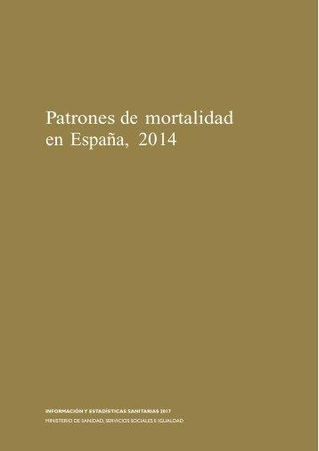 Patrones de mortalidad en España 2014