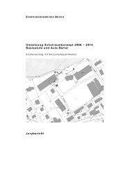 2014 Basisstufe und Aula Bärlet Jurybericht - Gemeinde Brügg