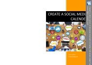 Create a Social Media Calender eBook