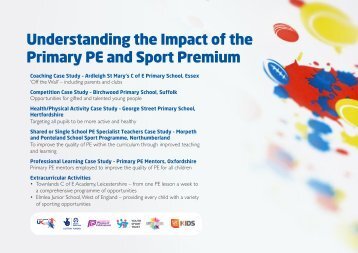 Understanding the Impact of the Primary PE and Sport Premium