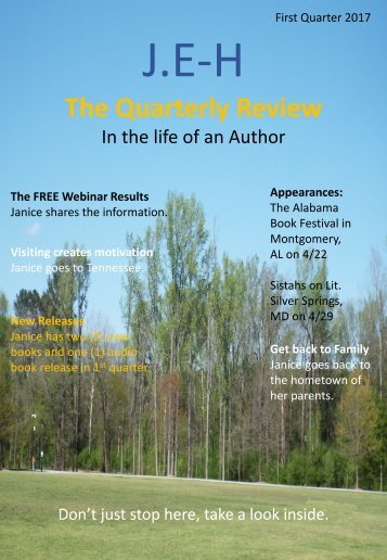 JEH The Quarterly Review in the life of an Author Magazine