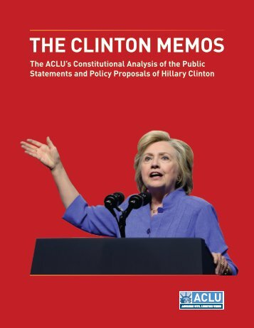 THE CLINTON MEMOS