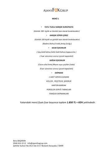 MARBLE CATERİNG AJANS FOX GRUP pdf