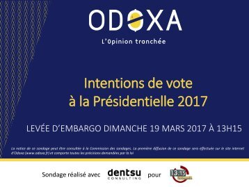 Intentions de vote à la Présidentielle 2017