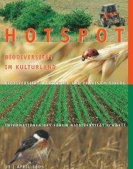 Biodiversität im Kulturland - Forum biodiversité Suisse