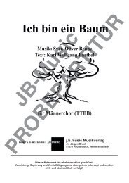 Ich bin ein Baum (für Männerchor TTBB)