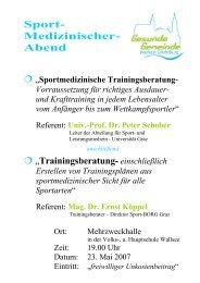 Sport- Medizinischer- Abend - SPORTUNION Österreich