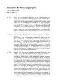 Verzeichnis Forschungsprojekte - Phil.-So. - Universität Augsburg