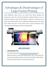 Advantages and Disadvantages of Large Format Printing