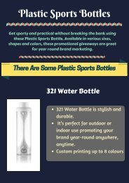 Logo Printed Promotional Plastic Sports Bottles in Australia