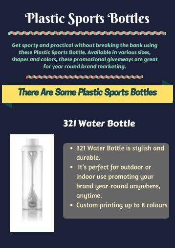 Logo Printed Promotional Plastic Sports Bottles in Australia