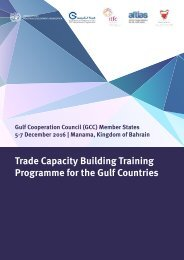 Trade Capacity Building Training Programme for the Gulf Countries