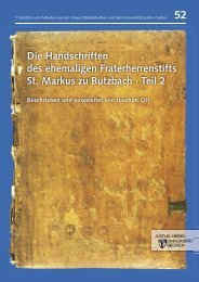 Die Handschriften des ehemaligen Fraterherrenstifts St. Markus zu ...