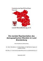 Die mentale Repräsentation des demographischen Wandels im ...