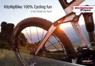 KitzAlpBike 100% Cycling fun - Hotel Sportalm