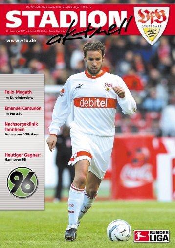 Hütchen« aufstellen Hauptsponsor debitel - VfB Stuttgart