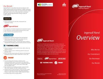 Our Commitment - Ingersoll Rand Security Technologies