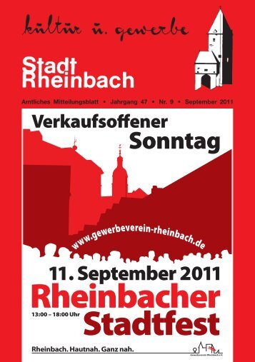 Rheinbacher Stadtfest - Stadt Rheinbach