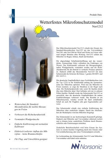 Wetterfestes Mikrofonschutzmodul
