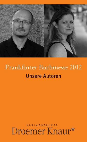 Unsere Autoren auf der Messe - Verlagsgruppe Droemer Knaur