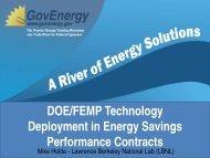 DOE/FEMP Technology Deployment in Energy Savings - GovEnergy