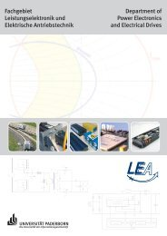LEA Broschüre - Fachgebiet Leistungselektronik und Elektrische ...