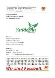 TFV Kerschdorfer Tirol Cup, Auslosung Viertelfinale