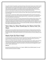 Critique Assignment: Mario Kart (wii)