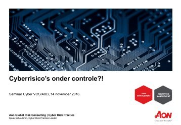 Cyberrisico's onder controle?!
