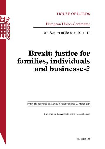 Brexit justice for families individuals and businesses?