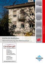 RUFALEX-Rollladen Werterhaltung bei Renovation