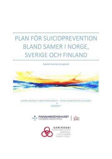 PLAN FÖR SUICIDPREVENTION BLAND SAMER I NORGE SVERIGE OCH FINLAND
