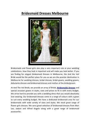 Deb dresses Melbourne - And The Veil Bridal