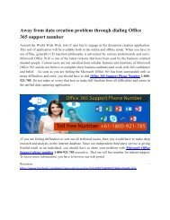 Microsoft Office 365 Support Phone Number 1-800-921-785